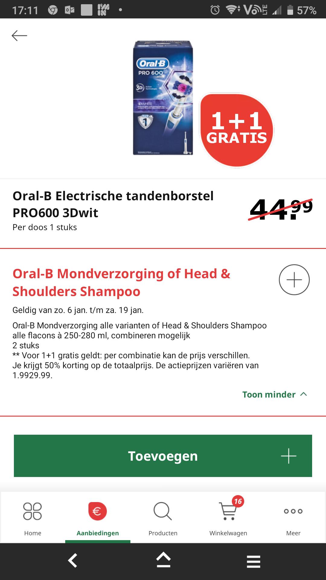 oral b 600 pro 3d white elektrische tandenborstel