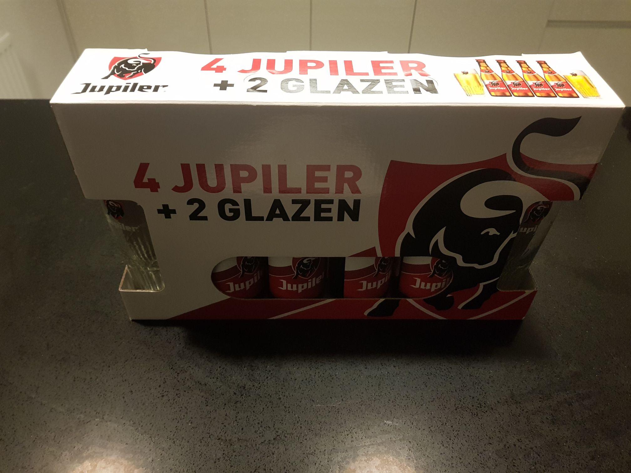 Jupiler 0,25cl 4+2glazen (pakket)
