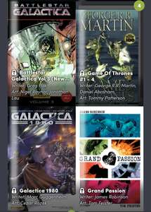 Comics bundel met o.a. Game of Thrones, Battlestar Galactica vanaf €0,88 tot €18 @ Humblebundle