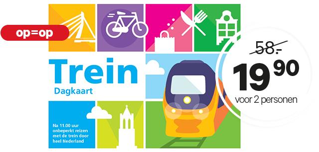 Trein dagkaart voor 2 personen (hele week na 11:00) voor €19,90 @ Etos