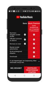 Gratis 3 maanden YouTube Music premium