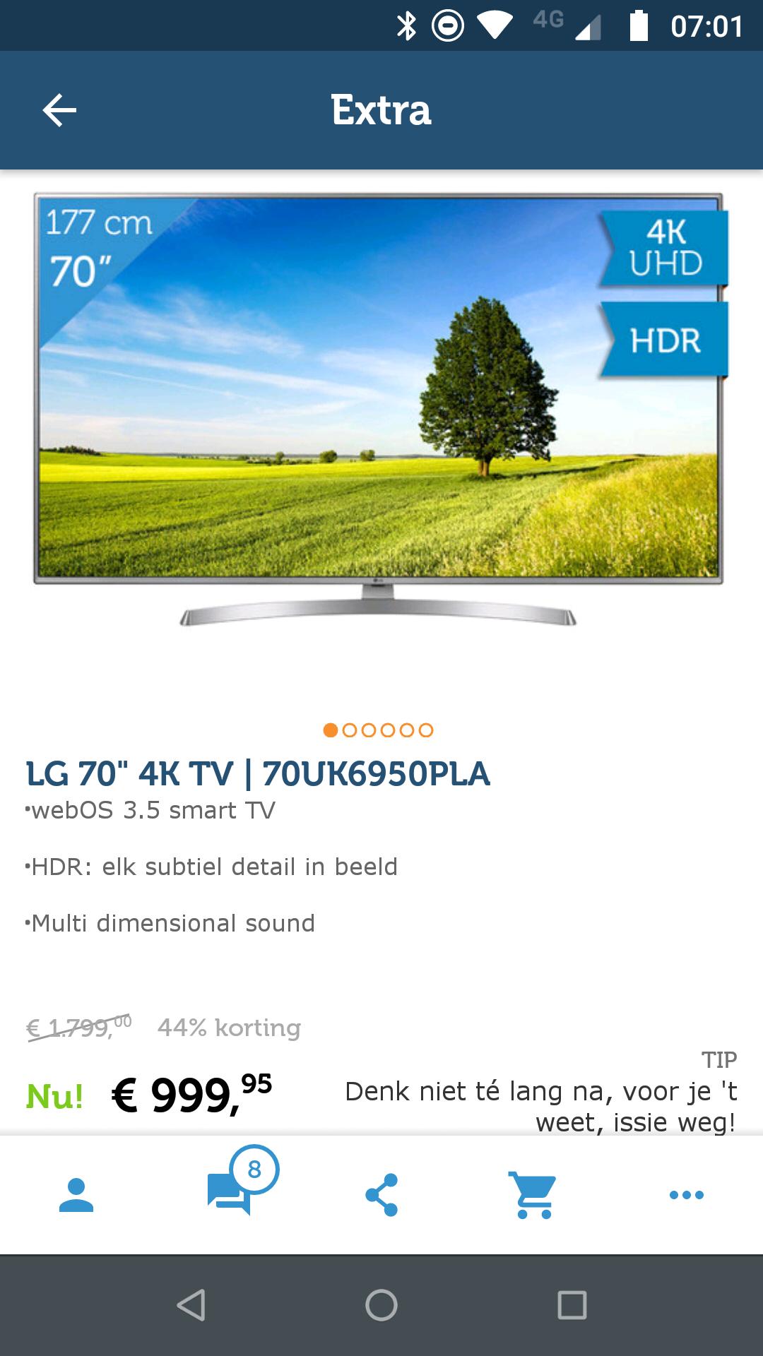 Grote LG tv 70''