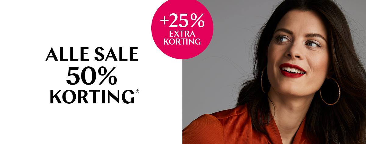 25% extra korting op de sale (verrekent in je winkelmandje)