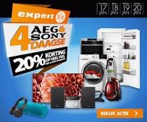 20% korting op veel AEG en Sony-producten @ Expert.nl