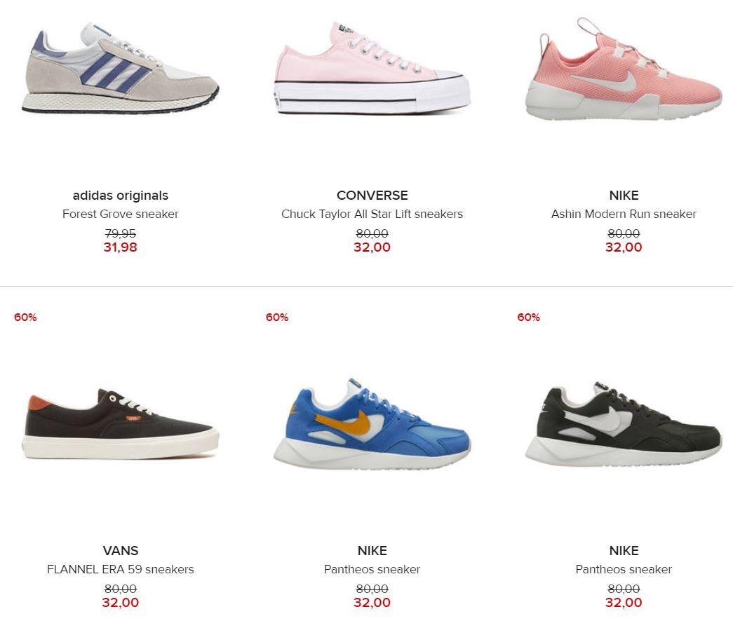 Veel sneakers -60% (oa Nike, adidas, Vans) @ Hudson's Bay