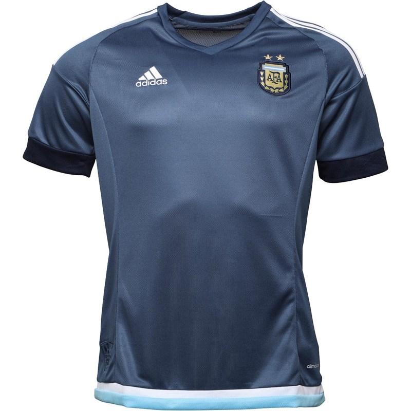 adidas Heren AFA Argentina Away Voetbal Jersey Marineblauw