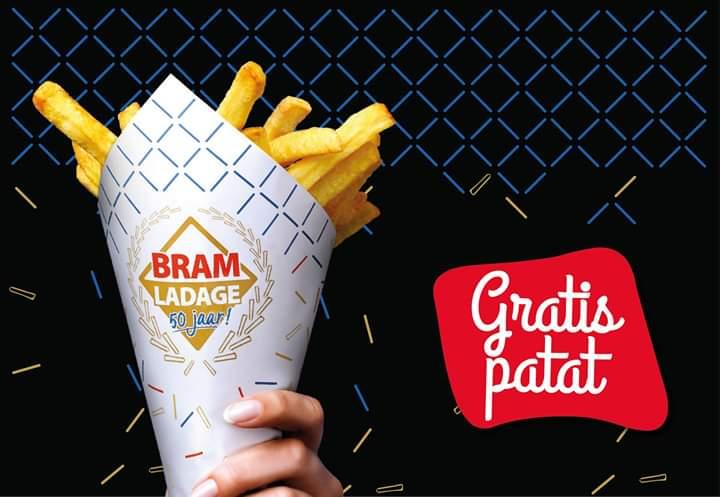 Gratis patat/friet Bram Ladage @Alphen