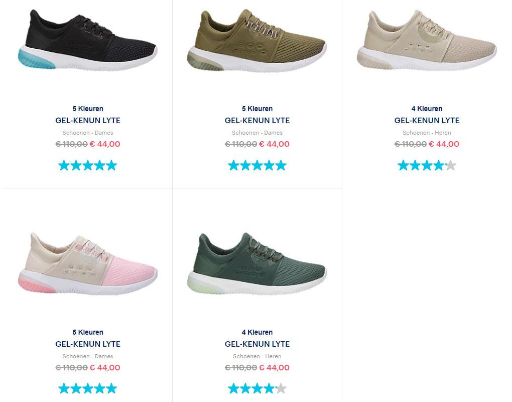 Gel-Kynun Lyte sneakers van €110 voor €39,60 @ Asics