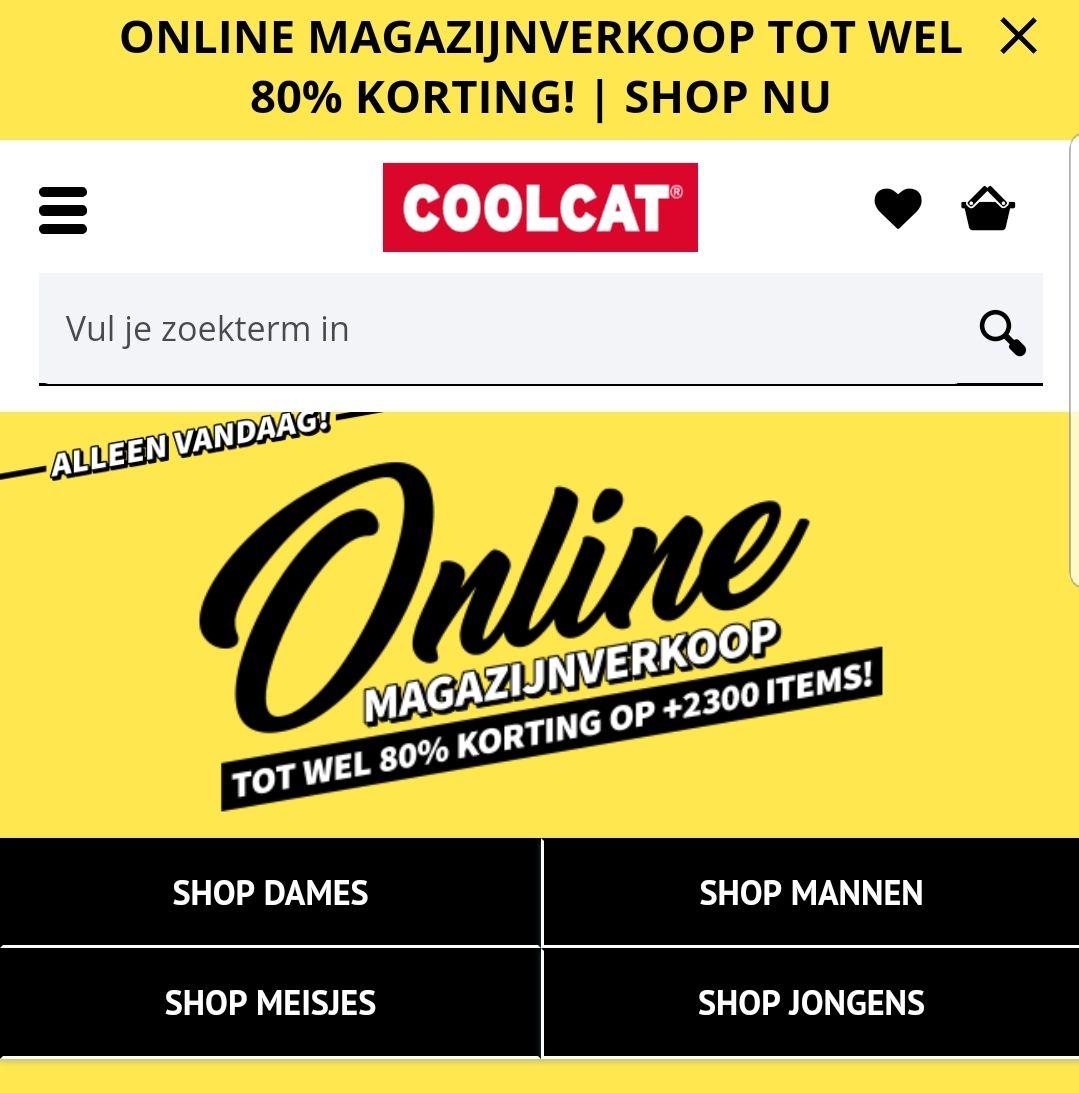 Coolcat online magazijnverkoop tot 80% korting