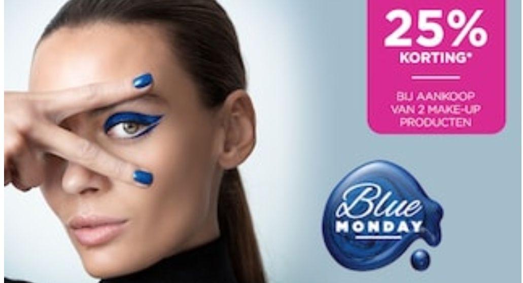 Blue Monday: 25% korting b.a.v. 2 make-up producten bij ICI PARIS XL