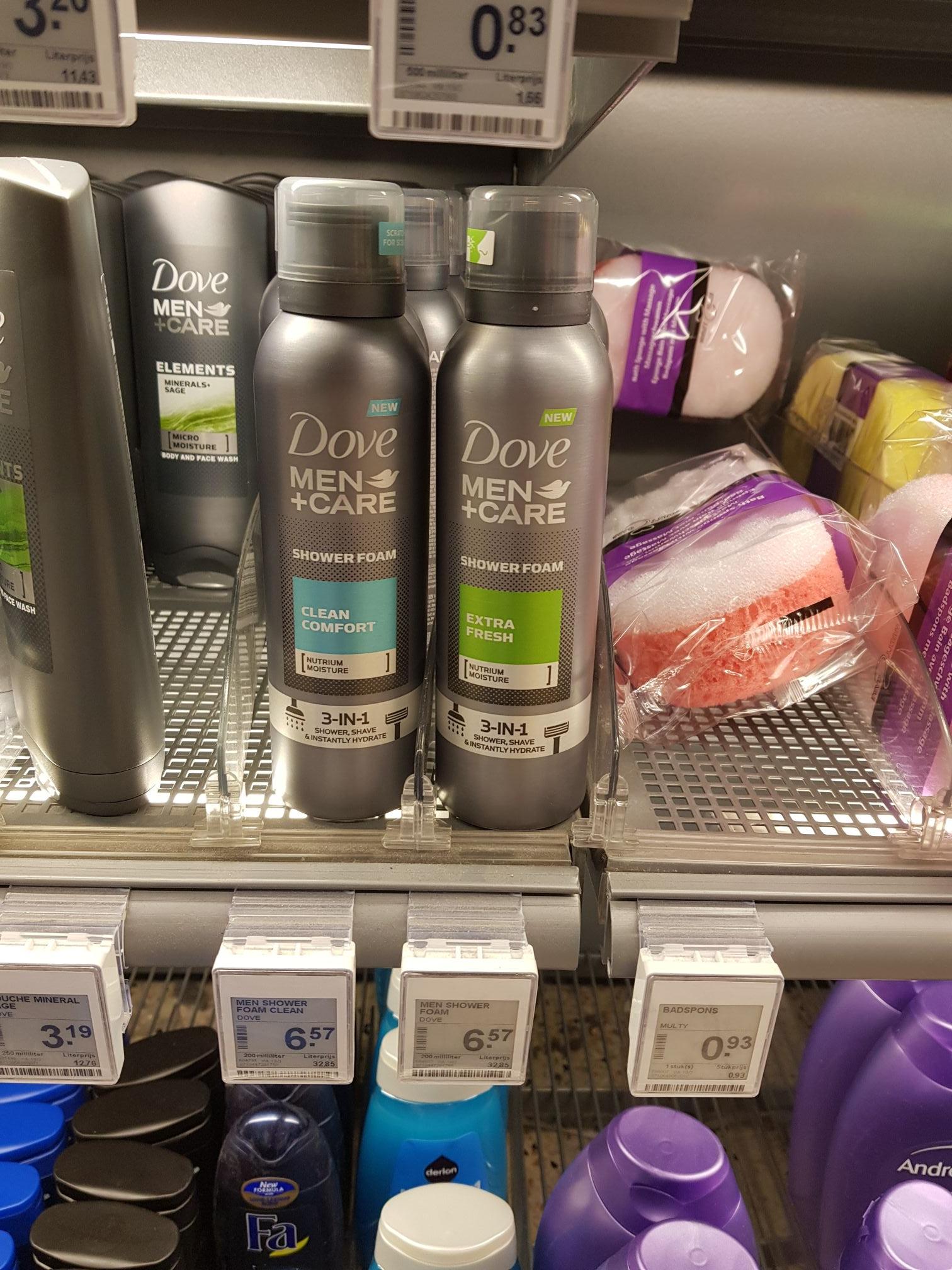 Nu 3 dove shower foam voor 5 euro ipv 19.72