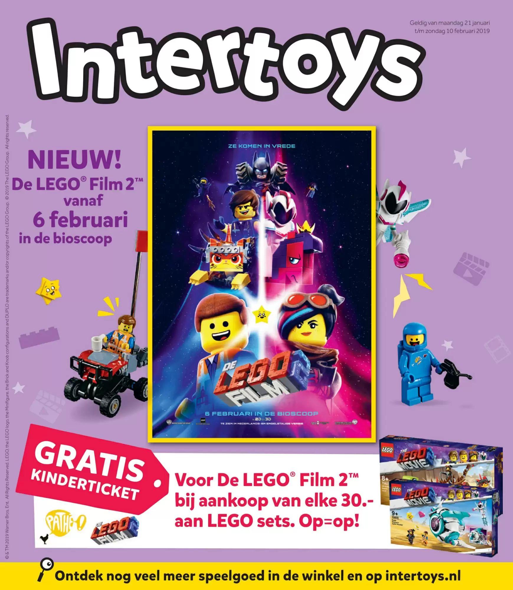 Gratis Pathé kinderticket voor Lego Film 2 bij aankoop van elke 30,- aan Lego sets.