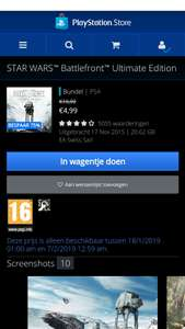Battlefront Ultimate edition PS4 Store