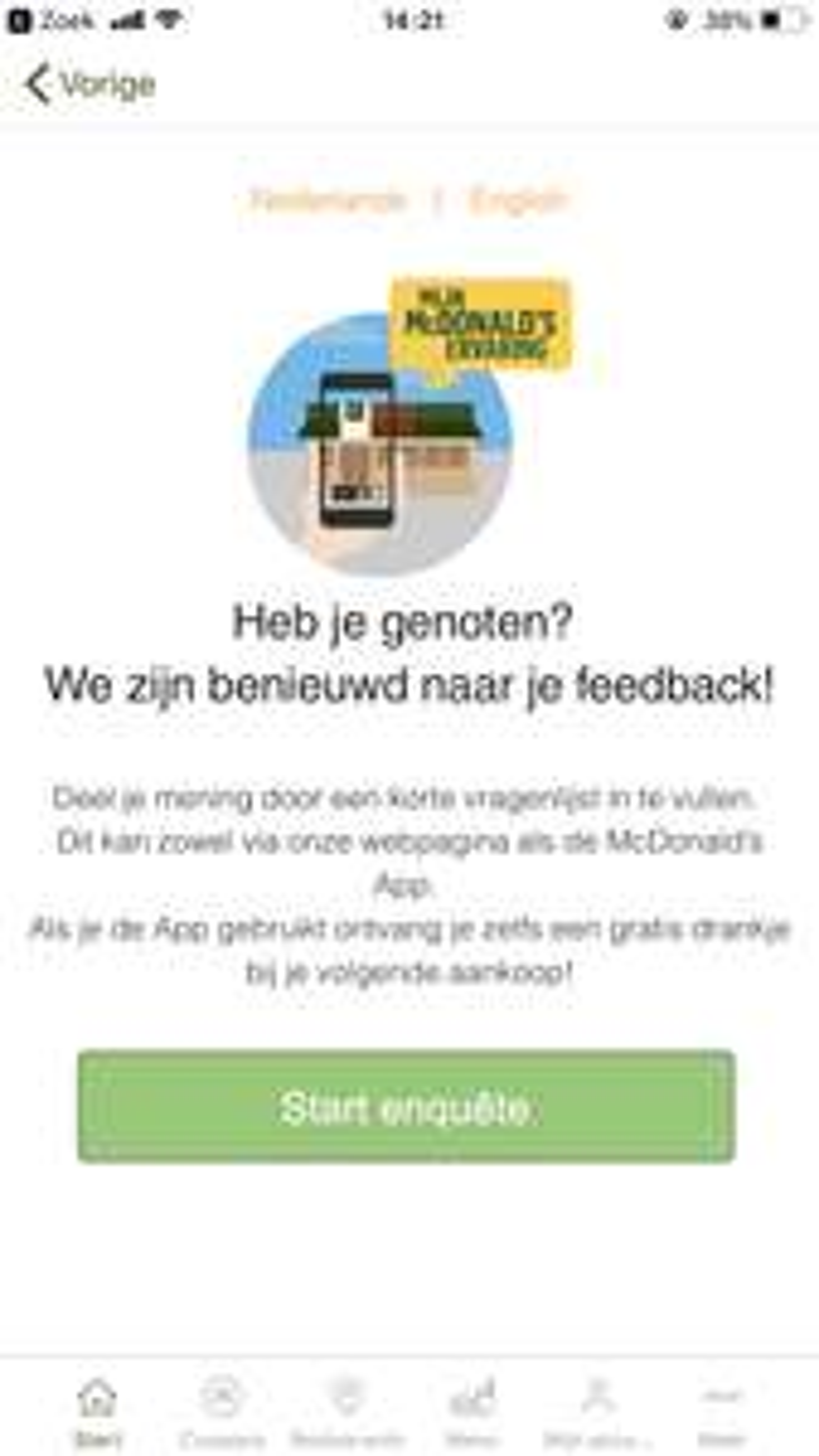 Altijd gratis drinken bij McDonald's