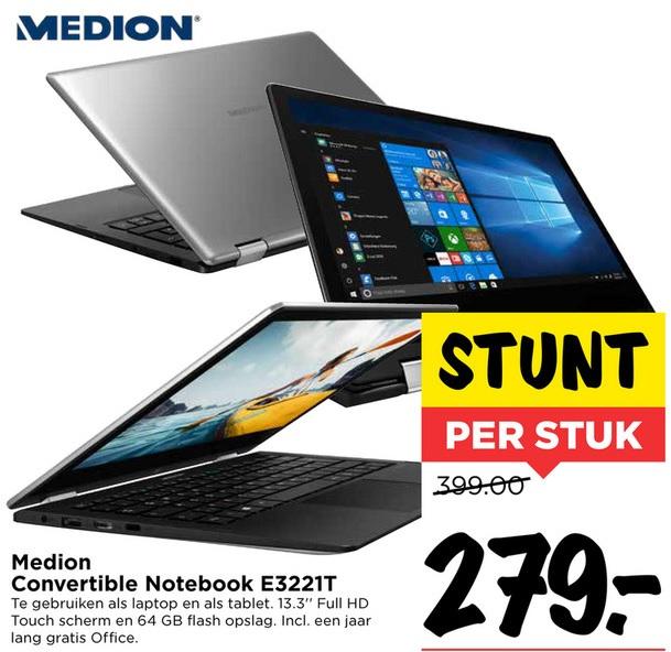 Medion 3221T laptop met touchscreen