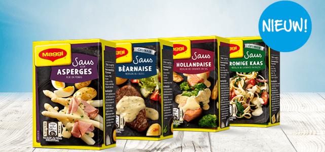 Maggi kant-en-klare sauzen: van €1,49 voor €0