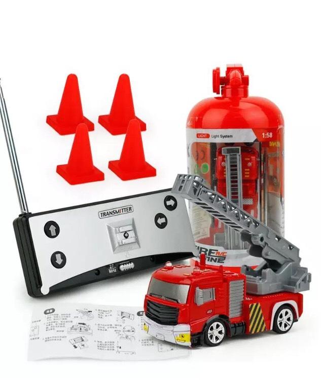 Coke Can mini RC auto 4 kanaals brandweer auto