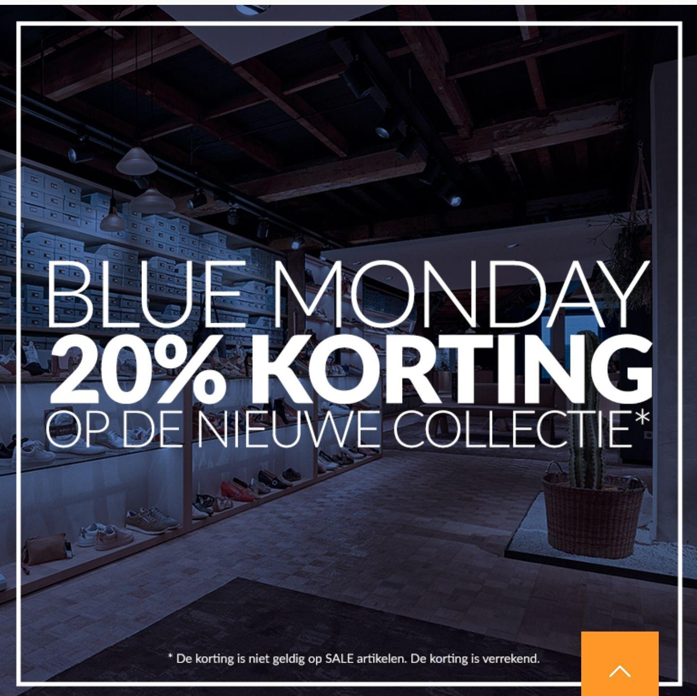 Blue Monday actie: 20% korting op de hele nieuwe collectie @ Manfield