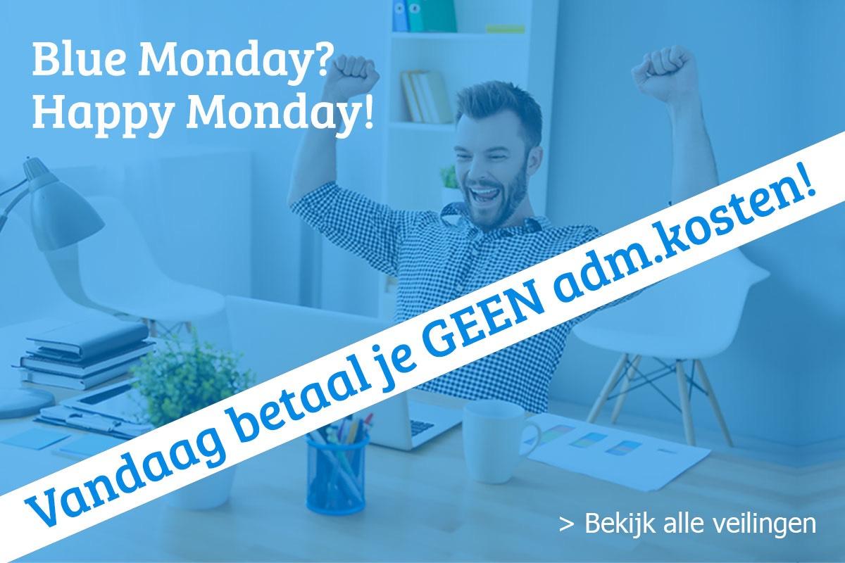 Blue Monday? Happy Monday! Vandaag geen administratie kosten @ticketveilig