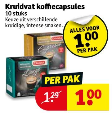Kruidvat Koffiecapsules: 1 euro (Grensaanbieding België)