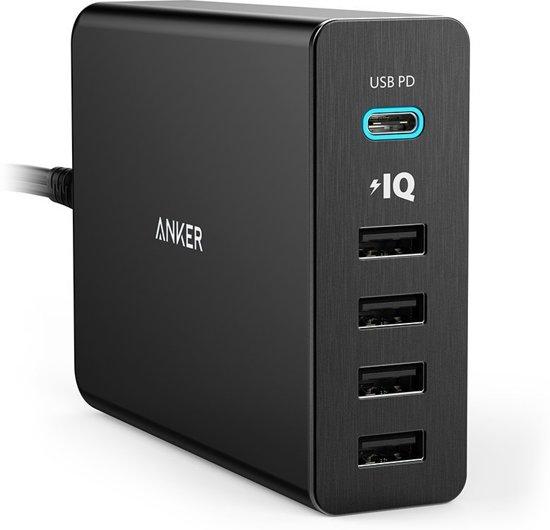 Anker PowerPort+ 5 60 Watt 1x USB-C voor €24 @ Bol.com Plaza