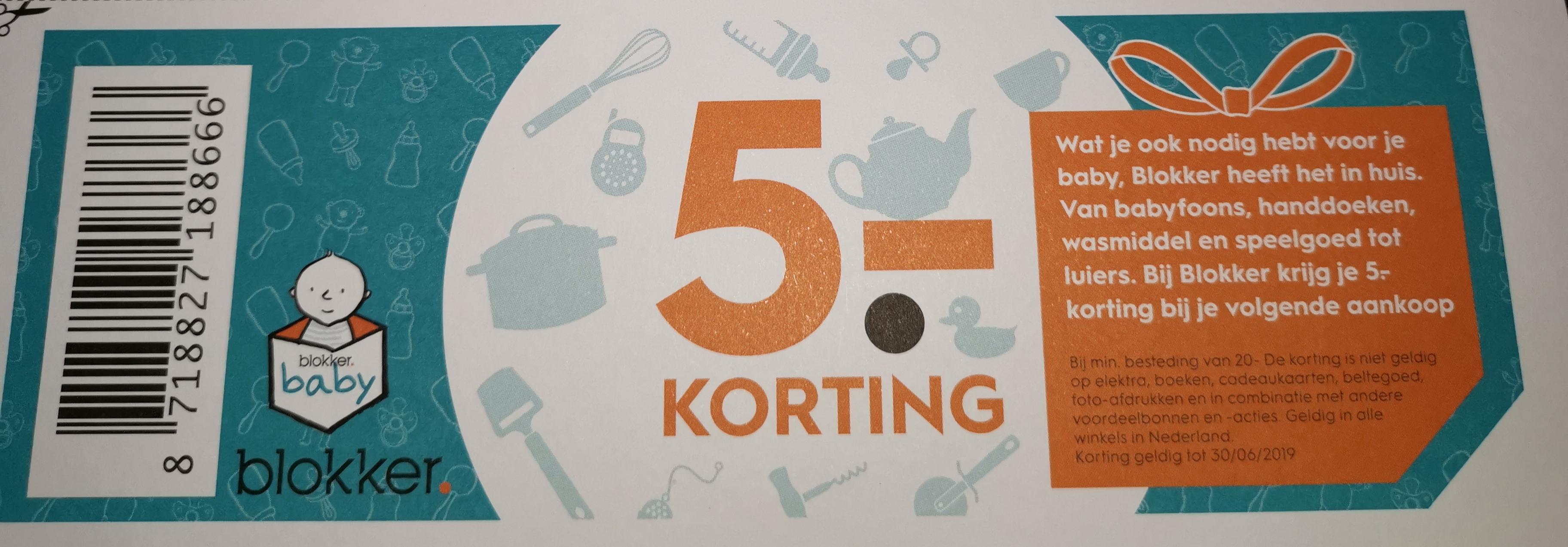 €5 kortingsbon vanaf €20 @ Blokker winkels