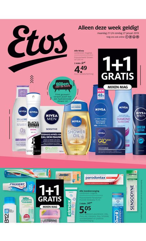 Alle Nivea, L'Oréal Paris, Kneip en Guhl 1 + 1 gratis en Dove 2 + 1 gratis