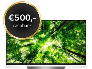 Prijsverlaging! LG 65'' OLED65E8PLA na €500 cashback t/m 28 februari