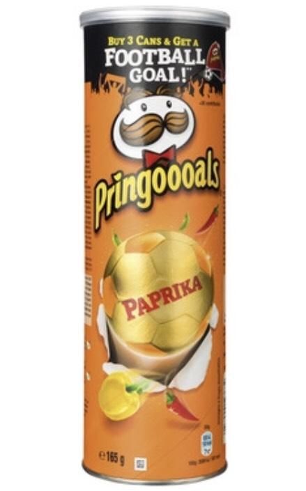 Paprika/Naturel Pringles bij de Trekpleister