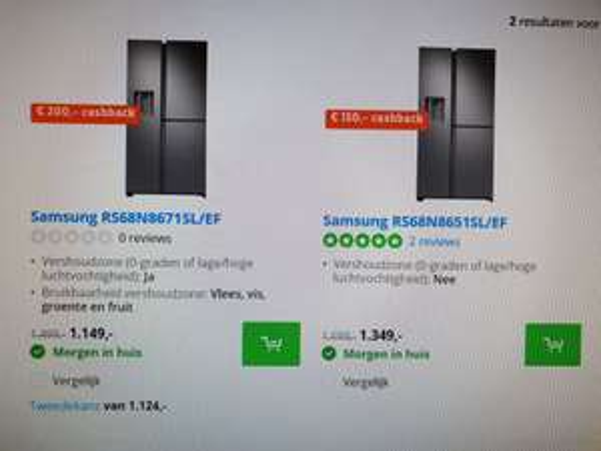 Samsung Hypermoderne Amerikaanse koelkast