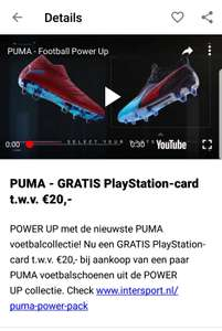 Intersport 20 euro psn tegoed