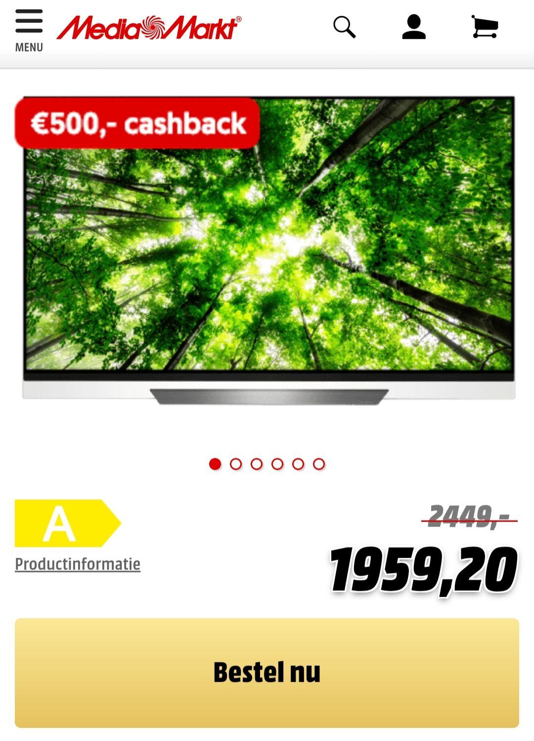 LG OLED 55E8PLA (€1459,20 na cashback)