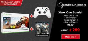 Xbox One S 1TB + Forza Horizon 4 + Extra Wireless Controller + Gears of War 4 voor €289 @ Game Mania