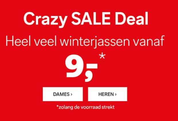 Crazy SALE jassen / jacks va €8,10 (tot -86% + 10% extra) @ C&A