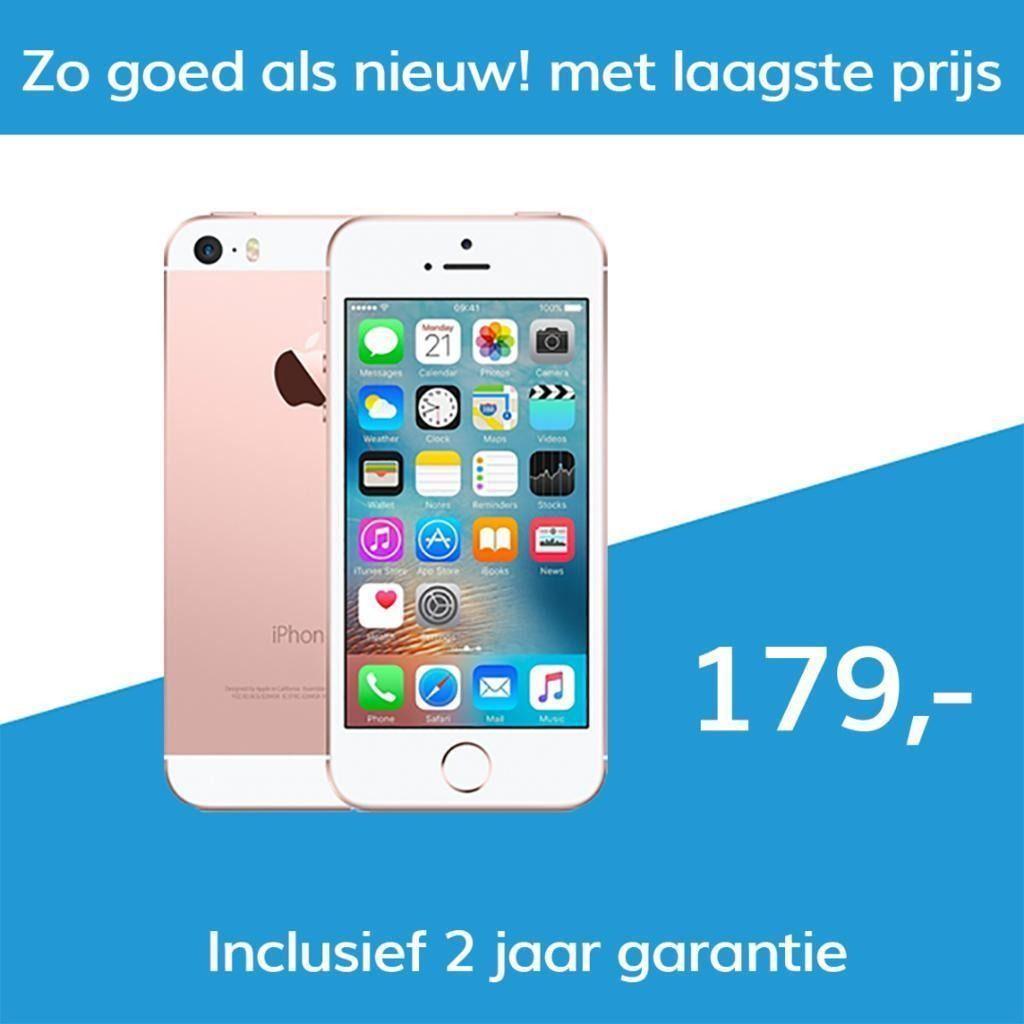 iPhone SE 16GB (Premium Refurbished) incl. 2 jaar Garantie + 10 euro korting