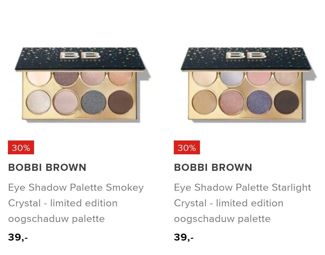 Bobbi brown limited edition oogschaduw palette met 30% korting en gratis verzending bij Bijenkorf