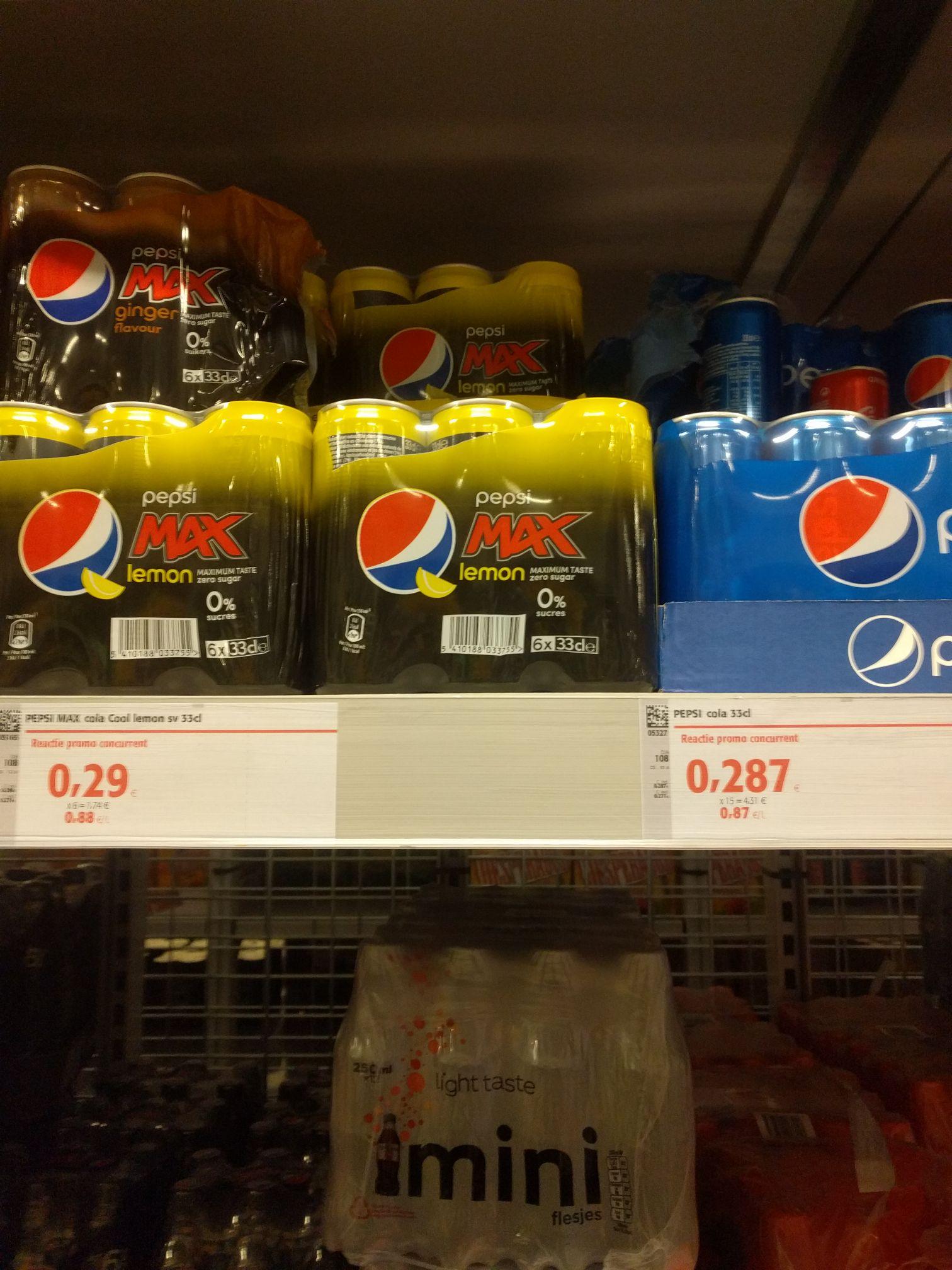 [GRENSDEAL BELGIË] goedkope blikjes Pepsi, alle varianten
