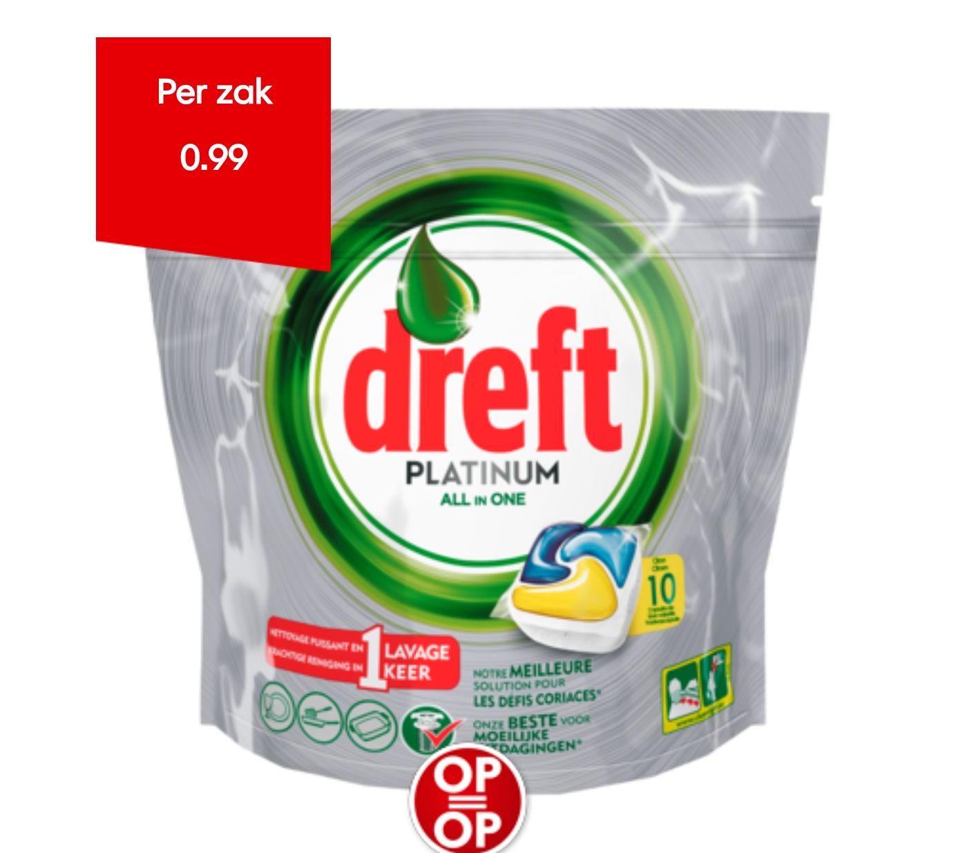 Dreft vaatwastabletten 10 stuks €0,99 @DekaMarkt