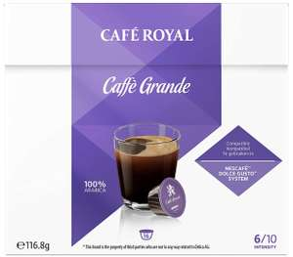 Café Royal Caffé Grande 3 doosjes á 16 cups voor Dolce Gusto