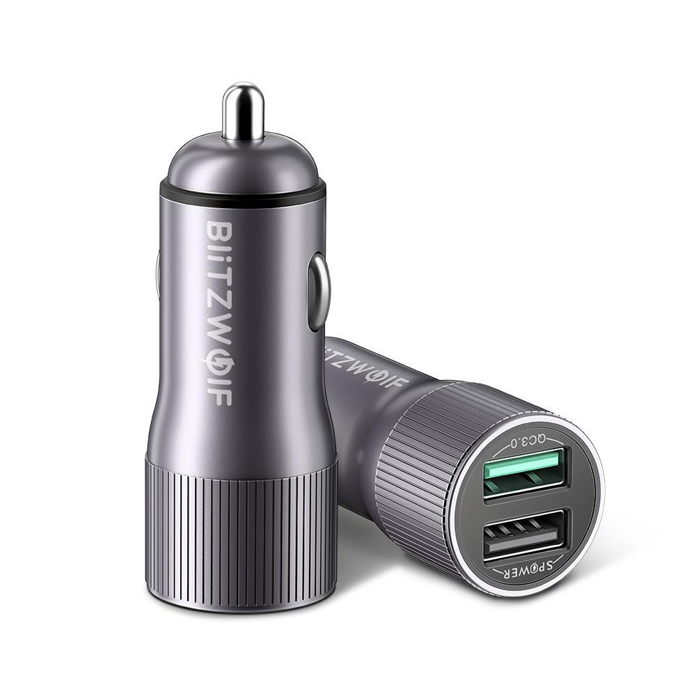 Blitzwolf Dubbele USB oplader voor in de auto voor €6,16
