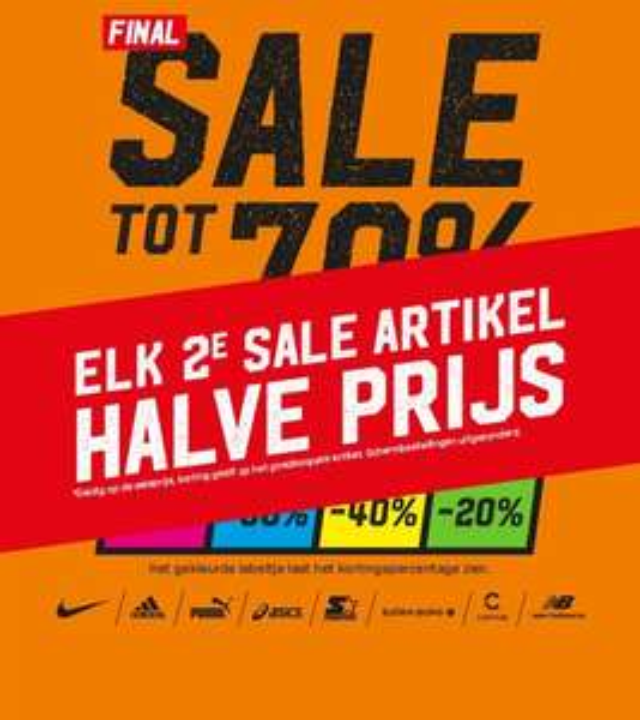 2e sale artikel halve prijs @ Aktiesport