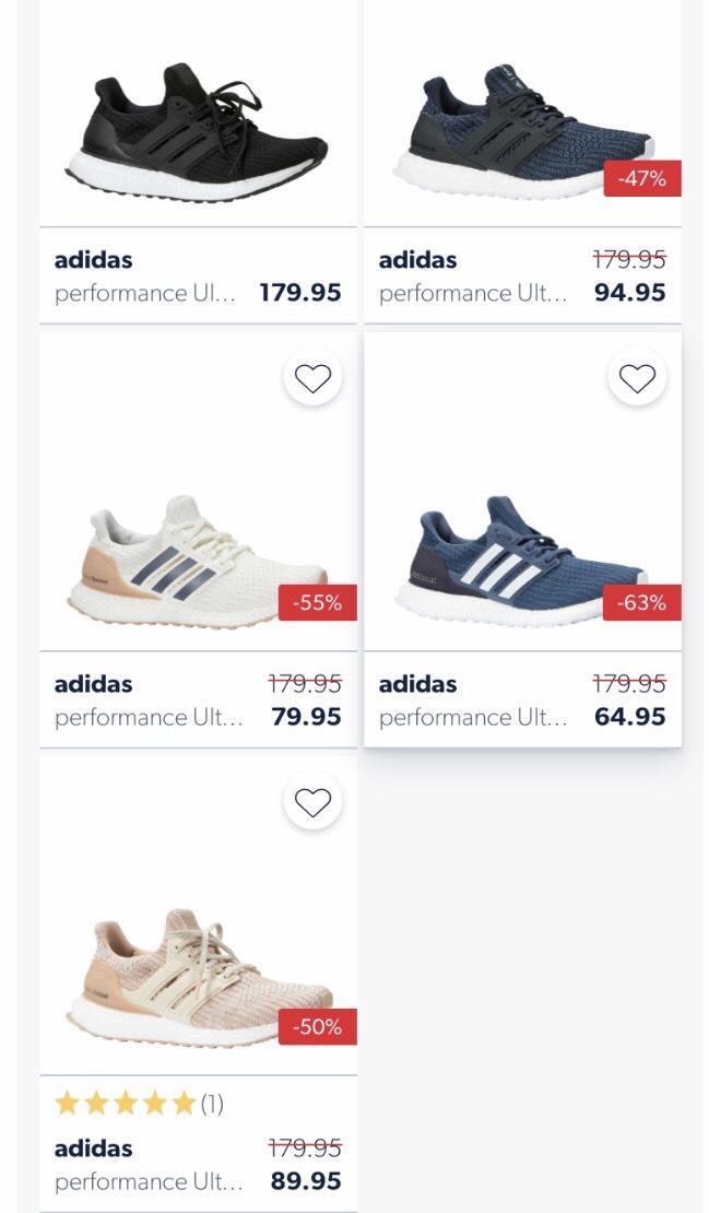 adidas Ultra Boost hardloopschoenen 47% tot 63% korting @Wehkamp