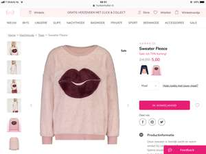 Sweater fleece met 80 % korting Hunkemoller
