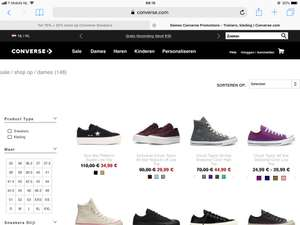 Converse extra 25% korting op sale