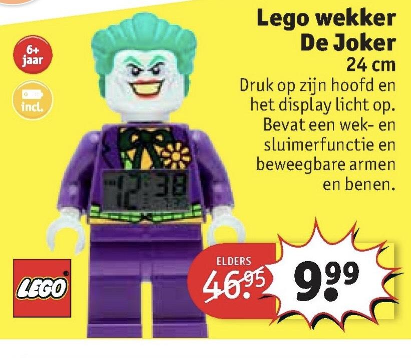 Lego wekker De Joker