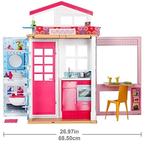 Barbie DVV47 | 2-etages vakantiehuis met pop @Amazon.de