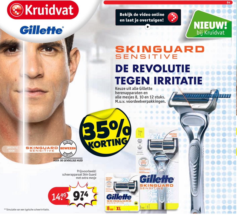 NIEUWE Gillette Skin Guard 35% korting @Kruidvat