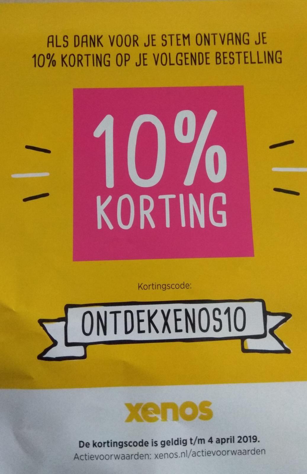 10% korting bij Xenos