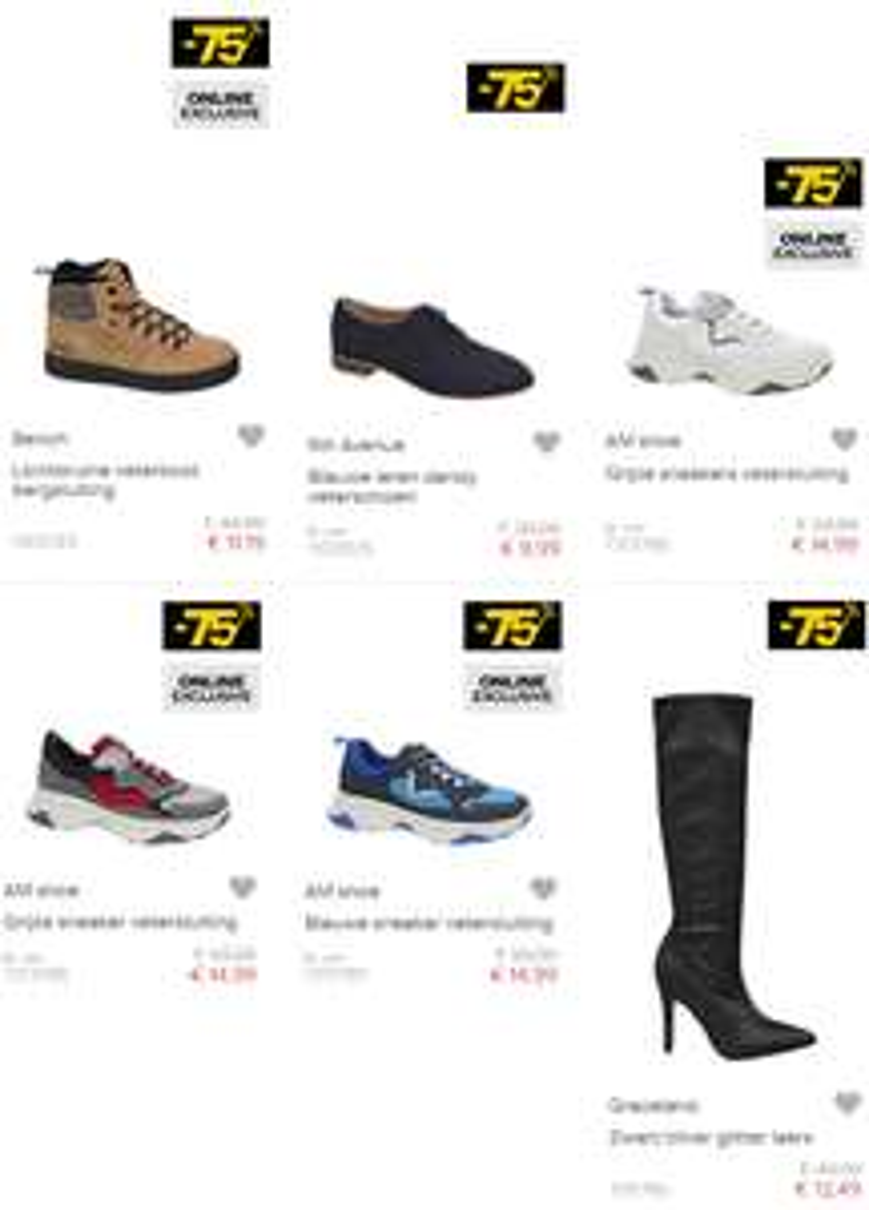Diverse sale met 75% korting @ Van Haren