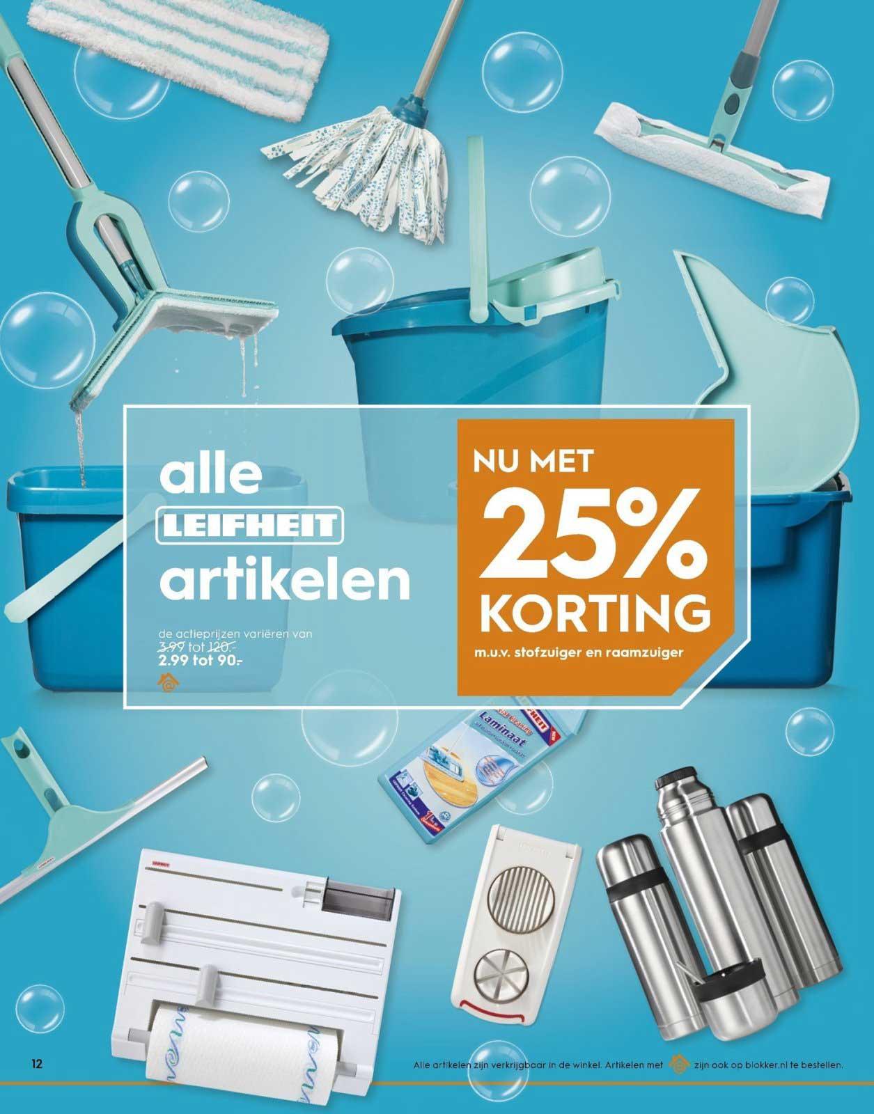 25% korting op alles van Leifheit bij Blokker t/m 3 februari